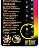 High-range thermometer for reptile tank