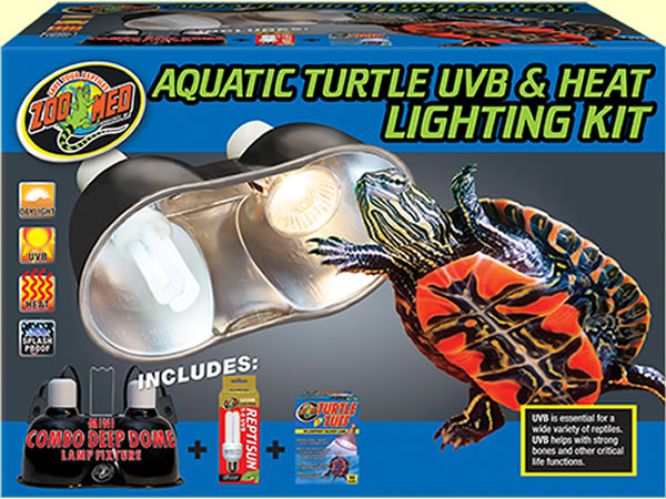 Zoo-Med combination heat and uv turtle lam fixture in retail box